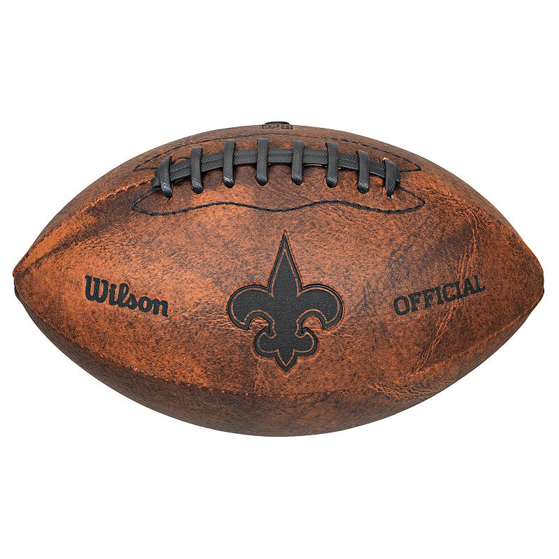 Wilson New Orleans Saints Throwback Youth-Sized Football