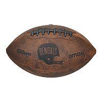 Wilson Cincinnati Bengals Throwback Youth-Sized Football