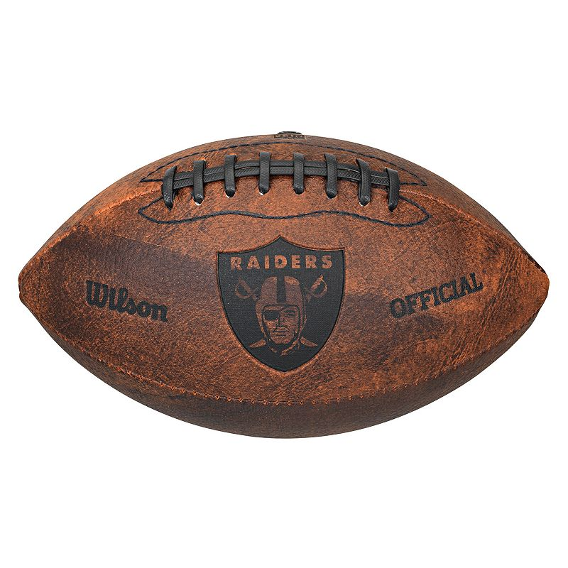 Wilson Oakland Raiders Throwback Youth-Sized Football