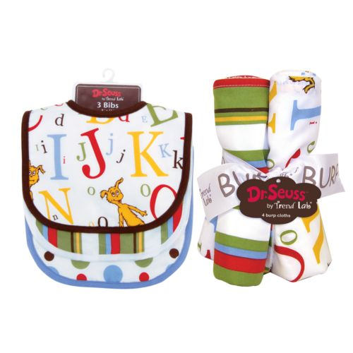 Dr. Seuss ABC 7-pc. Bib and Burp Cloth Set by Trend Lab
