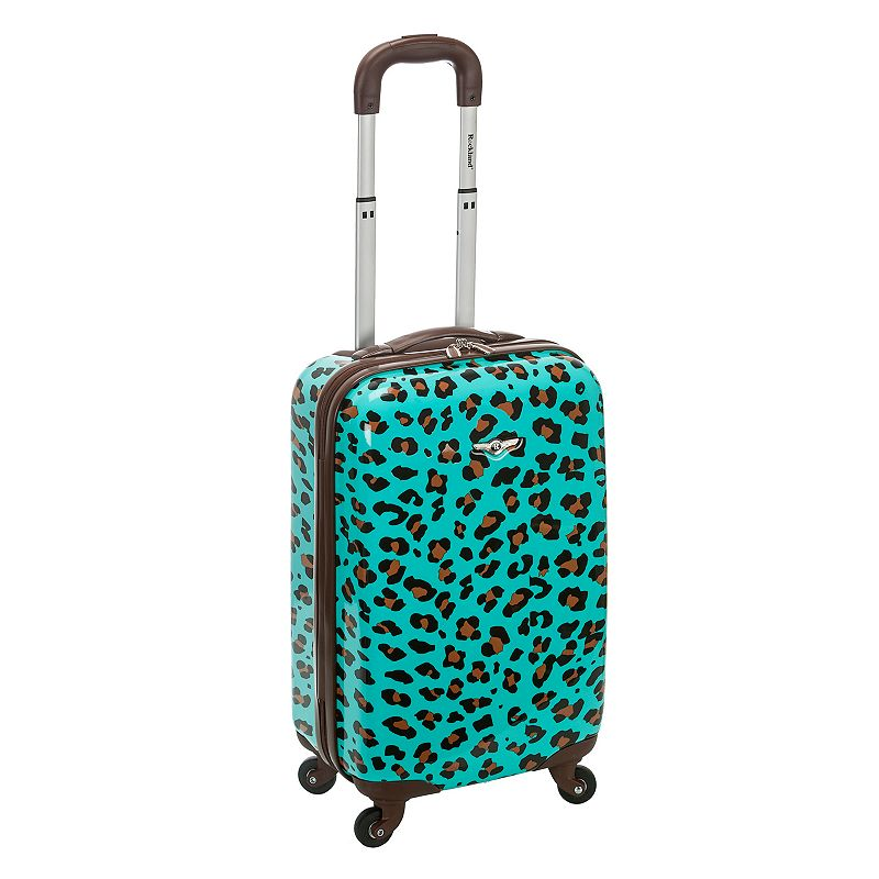 Rockland 20-Inch Animal Print Hardside Spinner Carry-On Luggage