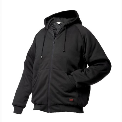 Men's Tough Duck Hooded Jersey Bomber Jacket