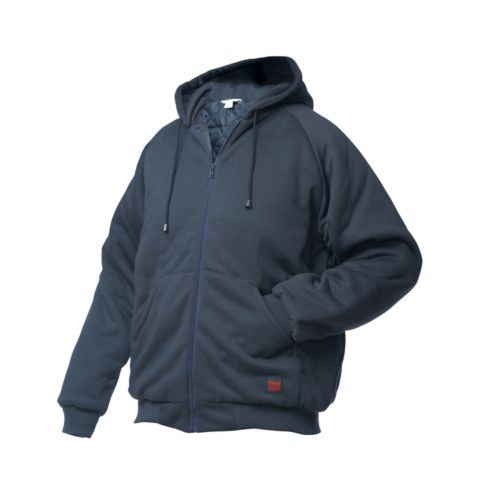 Big & Tall Tough Duck Hooded Jersey Bomber Jacket
