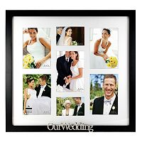 Malden ''Our Wedding'' 7-Opening Collage Frame