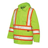 Big & Tall Work King High Visibility Hooded Rain Jacket