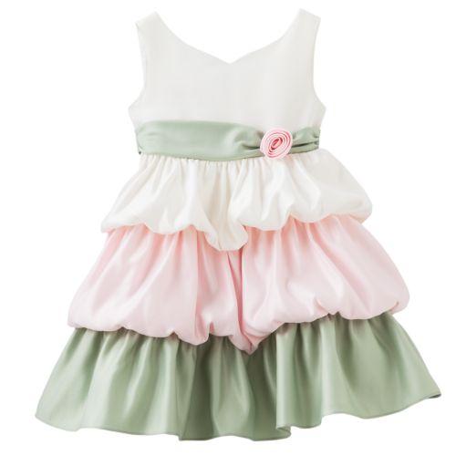 Princess Faith Bubble Tiered Dress - Toddler