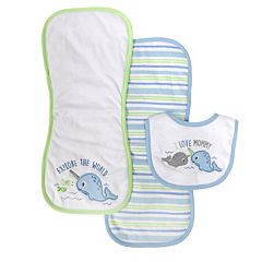 Baby Treasures 3-Piece Bib & Burp Cloth Set
