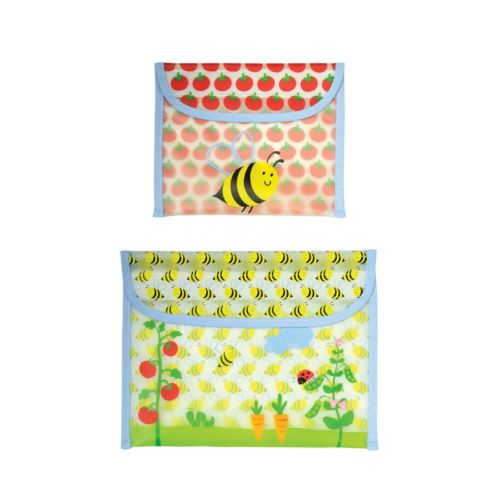 Green Sprouts by i play. 2-pk. Bumblebee Reusable Garden Snack Bags