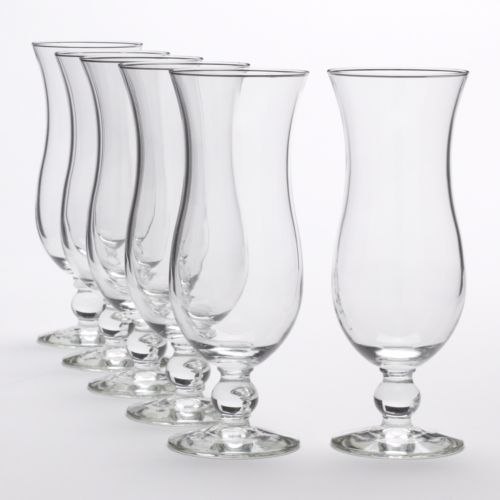 Libbey Cool Cocktails Island Hurricane 6-pc. Glass Set