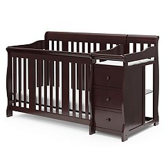 Storkcraft Portofino 4-in-1 Fixed Side Convertible Crib Changer by