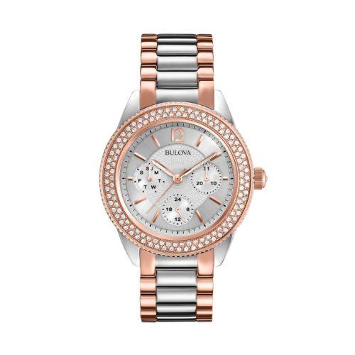 Bulova Women's Crystal Two Tone Stainless Steel Watch - 98N100