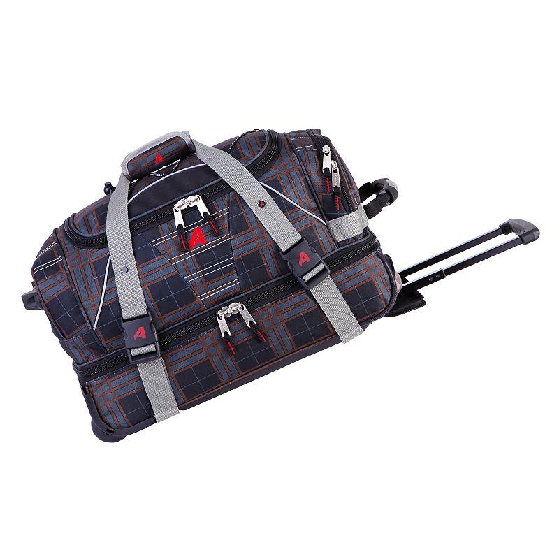 Athalon Windowpane 21-Inch Drop-Bottom Rolling Duffel Bag