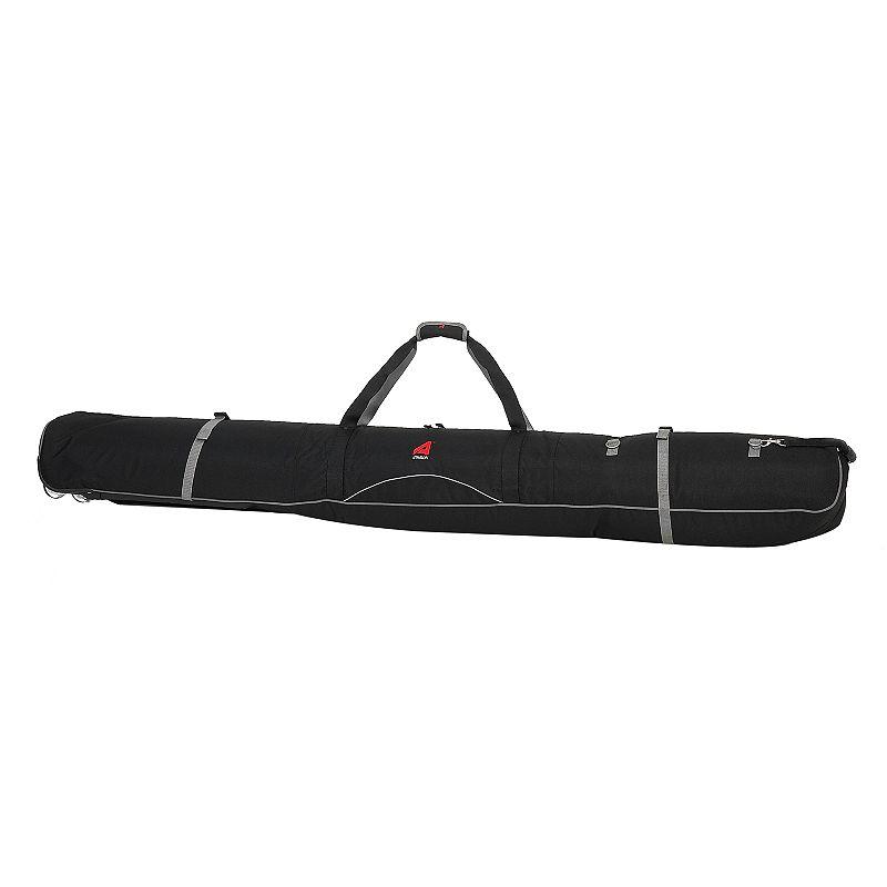 Athalon Black Wheeled Double Ski Bag