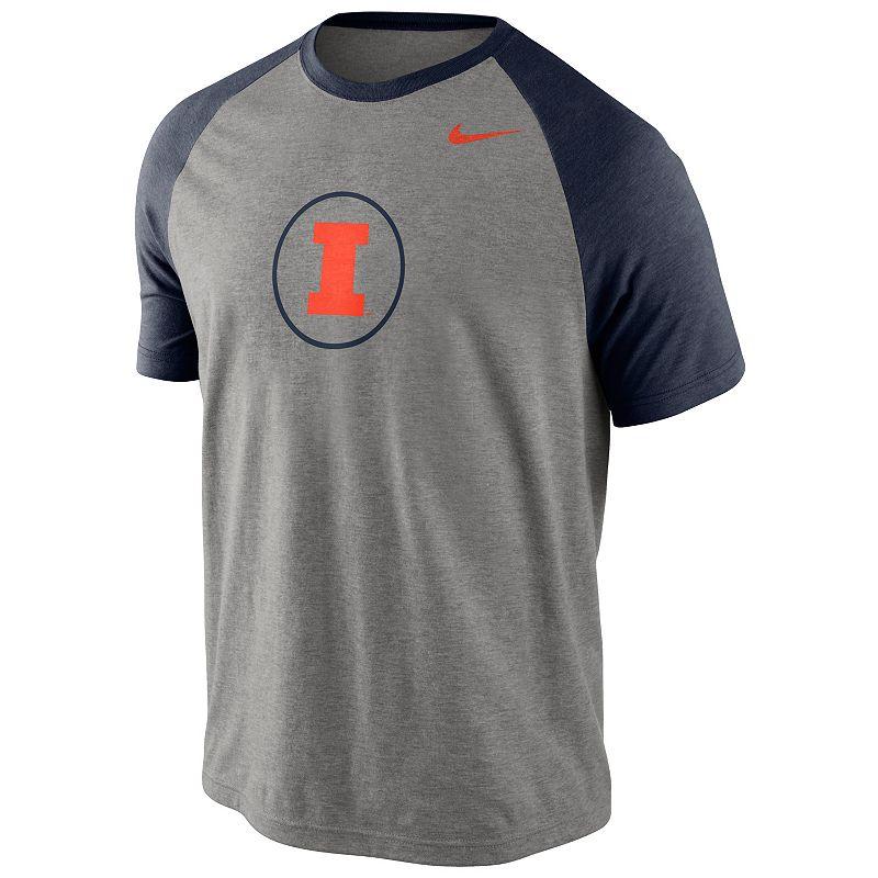 Men's Nike Illinois Fighting Illini Big Play Raglan Top