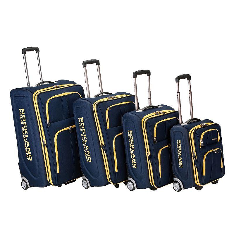 Rockland Polo Equipment 4-Piece Wheeled Luggage Set