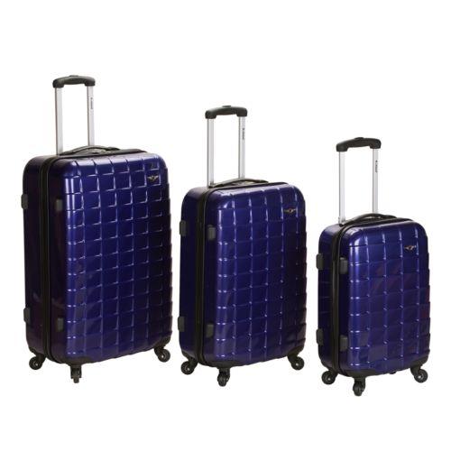 Rockland 3-Piece Hardside Spinner Upright Luggage Set