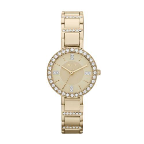 Relic Kerri Gold Tone Stainless Steel Crystal Watch - ZR34216 - Women