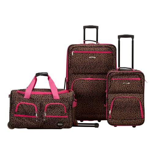 Rockland 3-Piece Wheeled Luggage Set