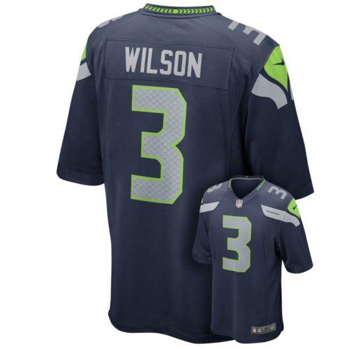 Nike Seattle Seahawks Russell Wilson Game NFL Replica Jersey - Men