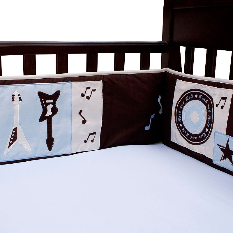 Lambs ivy rock 39 n roll crib sheet dealtrend for Rock n roll baby crib set