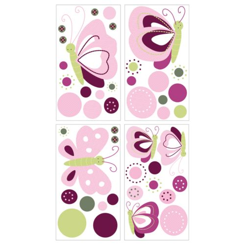 Lambs and Ivy Raspberry Swirl Wall Decals