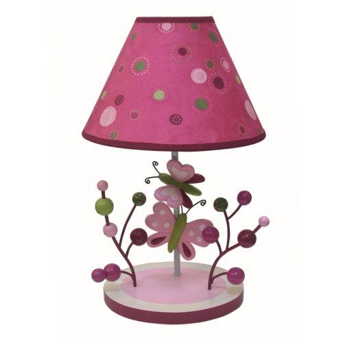 Lambs and Ivy Raspberry Swirl Lamp
