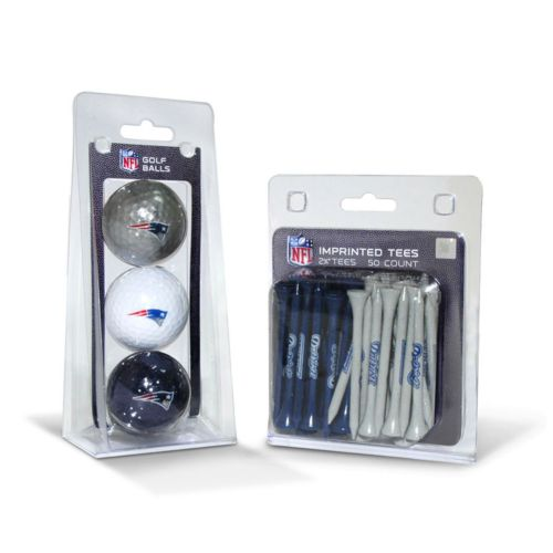 Team Golf New England Patriots Ball and Tee Set