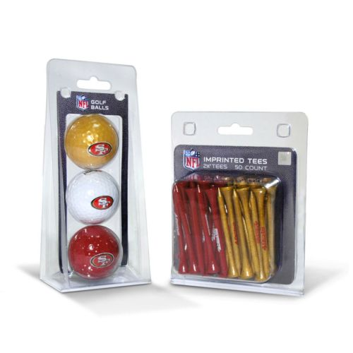 Team Golf San Francisco 49ers Ball and Tee Set