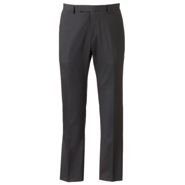 Men's Marc Anthony Slim-Fit Pindot Flat-Front Black Suit Pants