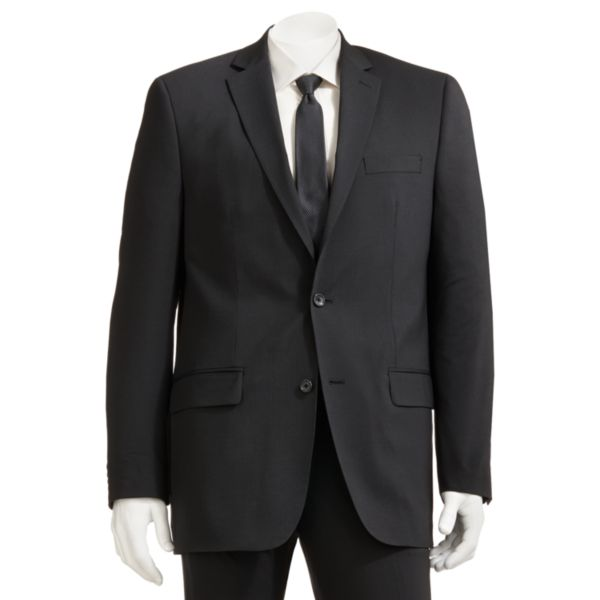 Men's Marc Anthony Slim-Fit Pindot Black Suit Jacket
