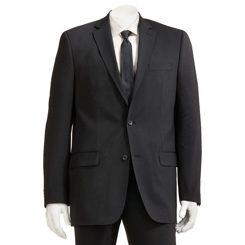 Men's Marc Anthony Slim-Fit Pindot Black Suit Jacket