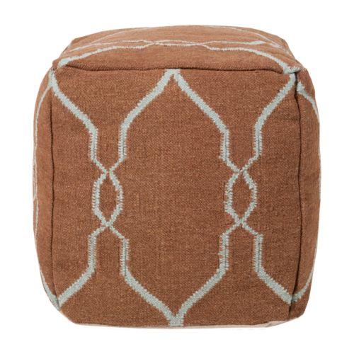 Artisan Weaver Antlers Wool Pouf