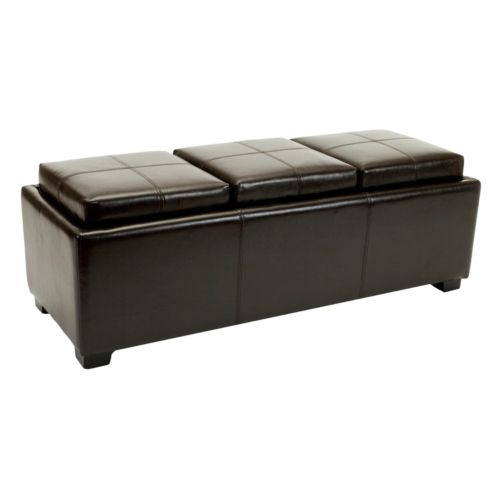 Safavieh Harrison Triple Tray Storage Ottoman