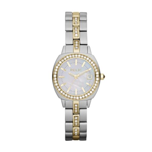 Relic Kate Two Tone Stainless Steel Crystal and Mother-of-Pearl Watch - ZR12036 - Women