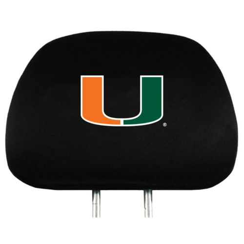 Miami Hurricanes Head Rest Covers