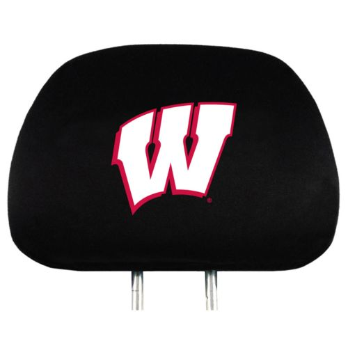 Wisconsin Badgers Head Rest Covers