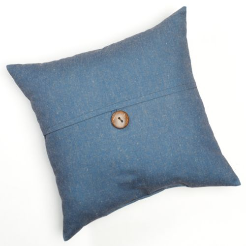 Linen Button Decorative Pillow - 20'' x 20''