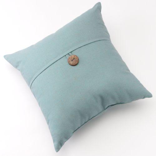 Linen Button Decorative Pillow - 20'' x 20''
