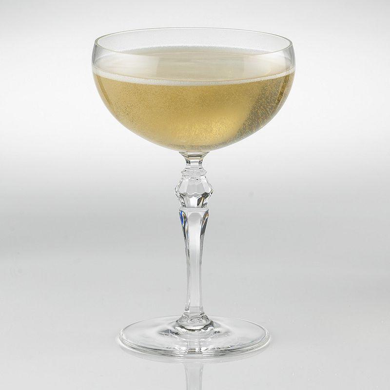 Wine Enthusiast Fusion Deco 4-pc. Champagne Coupe Glass Set