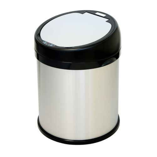 iTouchless 8-Gallon Round Extra Wide Stainless Steel Automatic Sensor Touchless Trash Can