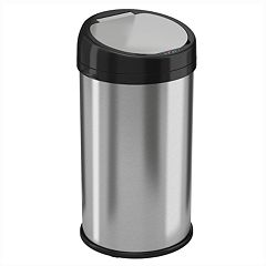 iTouchless 13-Gallon Round Extra Wide Stainless Steel Automatic Sensor Touchless Trash Can by