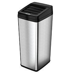 iTouchless 14-Gallon Stainless Steel Automatic Sensor Touchless Trash Can by