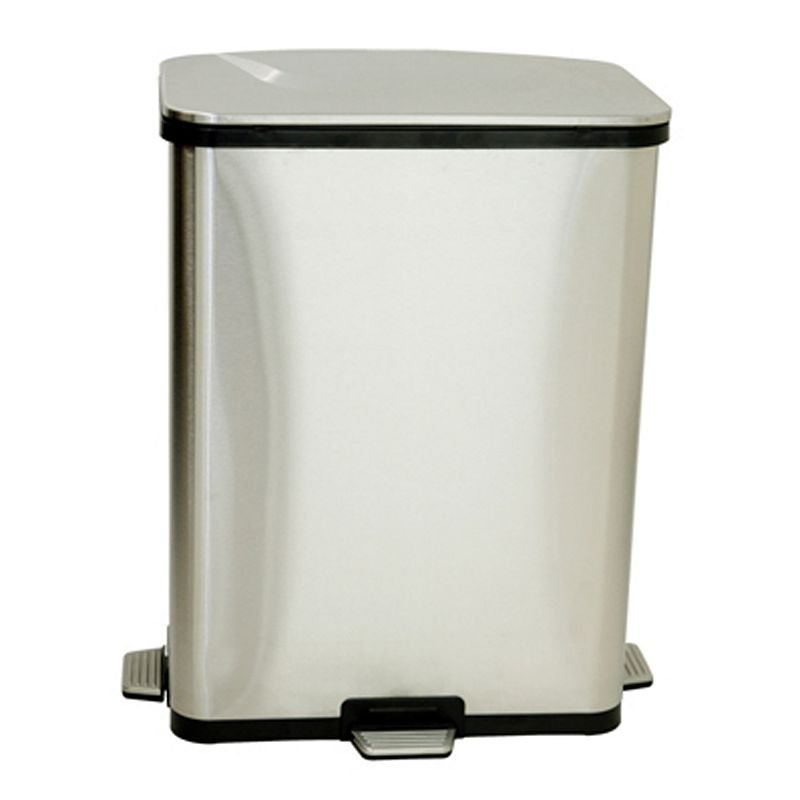 iTouchless Step Sensor Stainless Steel Trash Can