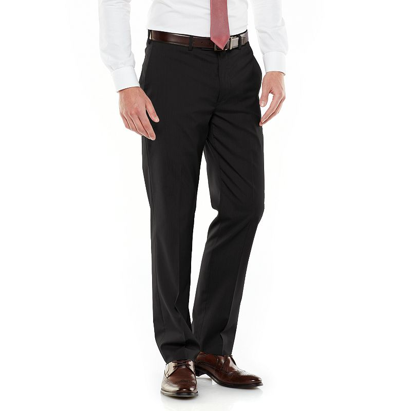 Men's Axist Ultra Series Slim-Fit Solid Flat-Front Micro-Cord Dress Pants