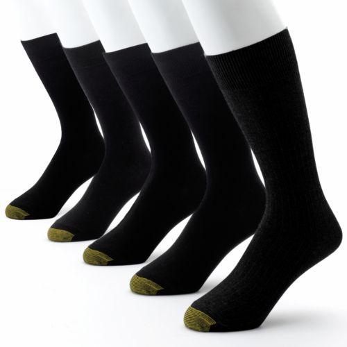Men's GOLDTOE 5-pk. Textured Dress Socks
