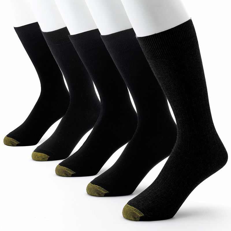 Men's GOLDTOE 5-pk. Textured Dress Socks