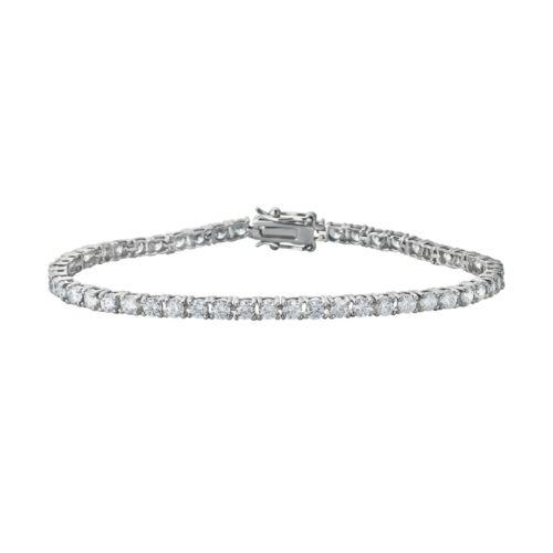 Sunstone 925 Sterling Silver Tennis Bracelet - Made with Swarovski Cubic Zirconia