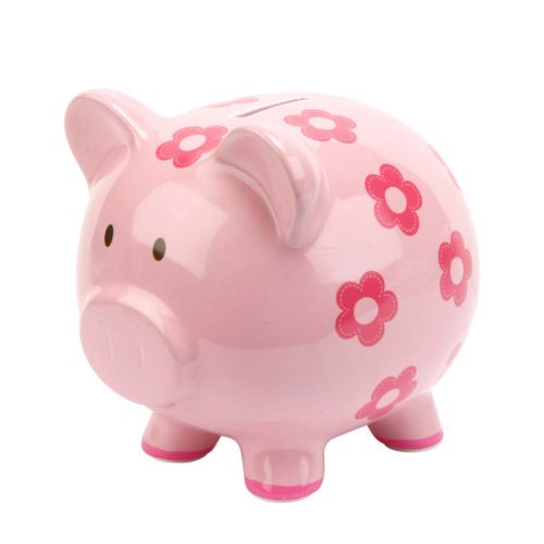 C.R. Gibson Floral Piggy Bank