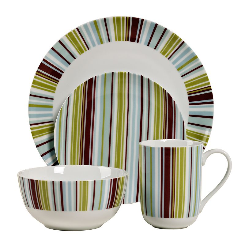 Tabletops Gallery Stripes 16-pc. Dinnerware Set