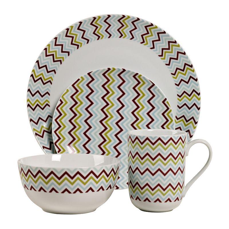 Tabletops Gallery Zigzag 16-pc. Dinnerware Set